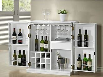 Vente Unique Meuble De Bar Gordon Hevea Mdf Coloris Blanc Rustic Basement Bar Mini Bar Bars For Home