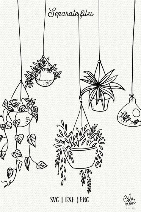 Indoor hanging plants svg bundle cut files botanical etsy doodle art the oxygen bomb place these wherever you want to clear toxins and negative energy from the air in your home Bullet Journal Art, Bullet Journal Ideas Pages, Bullet Journal Inspiration, Doodle Art Letters, Doodle Art Journals, Doodle Wall, Doodle Frames, Drawing Journal, Doodle Art Drawing