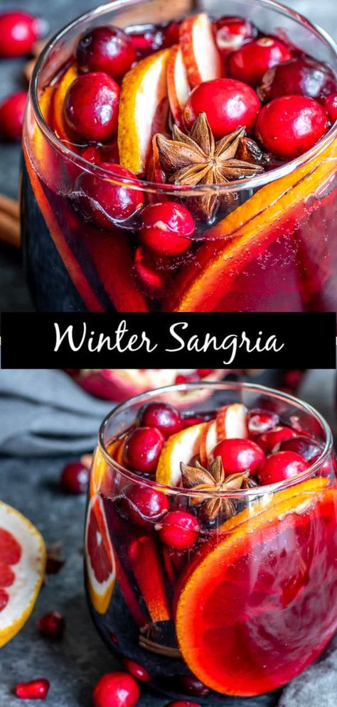 This easy recipe for Winter Red Wine Sangria is made with red wine, warm spices . This easy recipe for Winter Red Wine Sangria is made with red wine, warm spices like cinnamon, clov Winter Sangria, Winter Cocktails, Red Wine Sangria, Christmas Sangria, Peach Sangria, Holiday Cocktails, Red Wine Cocktails, Thanksgiving Sangria, Moscato Sangria