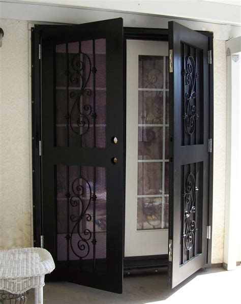 60 Best Security Door Ideas That Will Make You Safe And Sound French Doors Security Security Screen Door Security Door