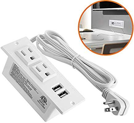 Amazon Com Desktop Power Strip With Usb For Furniture Desk