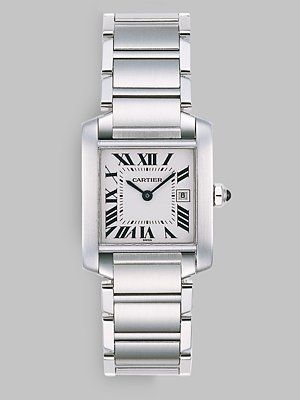 Cartier Tank Francaise Stainless Steel Watch on Bracelet, Medium (but prefer the large.......and even better the tank anglaise)