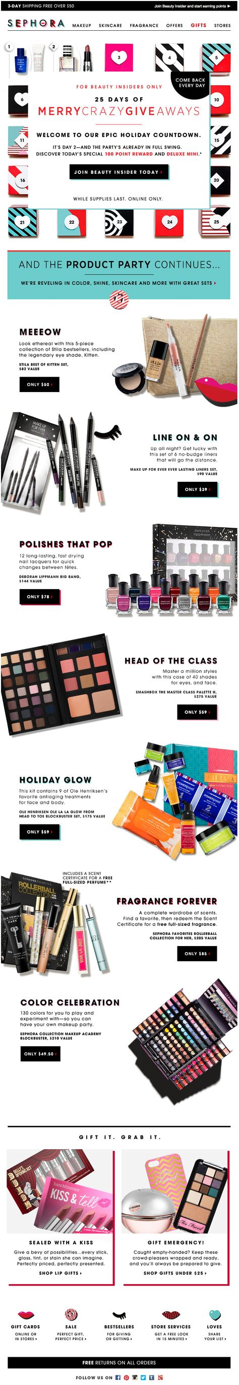 Sephora : Days Of Gifts