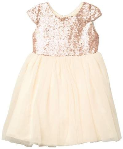 15c45db69 Holly Cap Sleeve Sequin Dress (Toddler Girls) | Products | Sequin ...