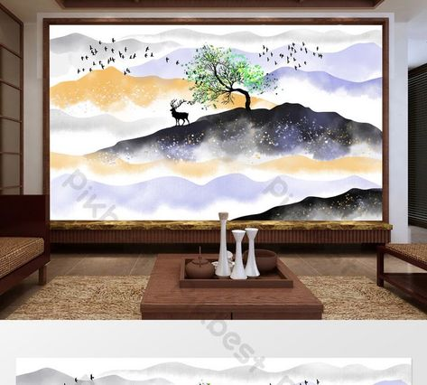 25 Lukisan Dinding Awan Di 2020 Seni