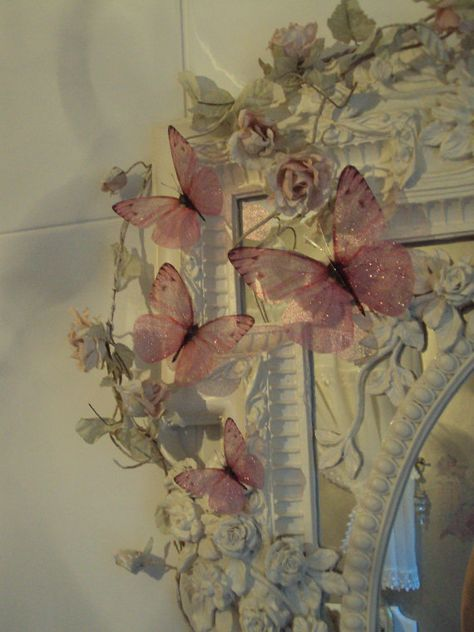 4 Large Sparkling Fairy Dust Girls Pink Bedroom Mirror Furniture Butterflies fairy rooms for girls Angel Aesthetic, Nature Aesthetic, Aesthetic Room Decor, Aesthetic Vintage, Aesthetic Backgrounds, Aesthetic Wallpapers, Photowall Ideas, Mirrored Furniture, Shabby Chic Furniture