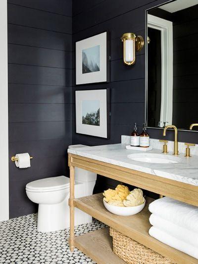 6 Black And White Bathroom Floor Tiles That Feel Totally Fresh Farmhouse Bathroom Decor Black And White Bathroom Floor Bathroom Flooring