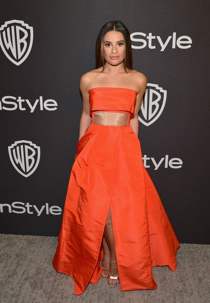 Lea Michele attends the 2019 InStyle and Warner Bros. 76th Annual Golden Globe Awards Post-Party at The Beverly Hilton Hotel.