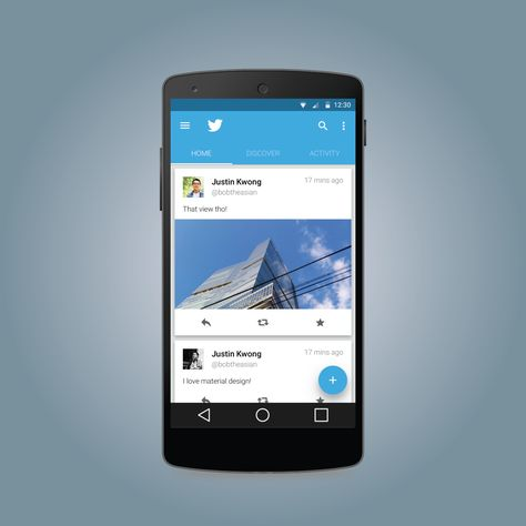 Twitter Materialized For Android L By Justin Kwong Ideas