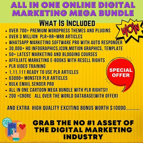 All In One Online Digital Marketing Mega Bundle | Etsy