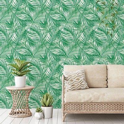Tropical Peel Stick Wallpaper Green Opalhouse Peel And Stick Wallpaper Tropical Wallpaper Green Wallpaper