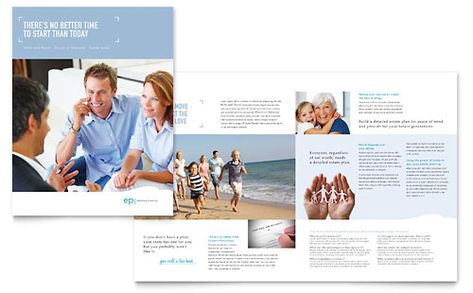 Estate Planning - Brochure Template Design Layout Ideas - microsoft word pamphlet template