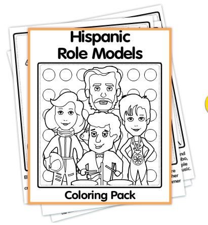 Roberto Clemente Coloring Page Famous Hispanics Roberto
