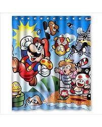Deyou Deyou Super Mario Pattern Shower Curtain At Shower