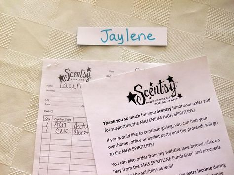 Scentsy Fundraiser for Aubrie Hope Hughes! Scentsy Fundraiser - fund raiser thank you letter