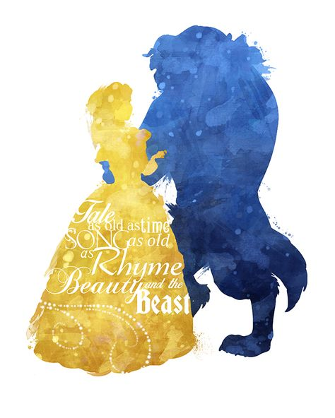 A Tale As Old Time Beauty And The Beast Watercolor Print