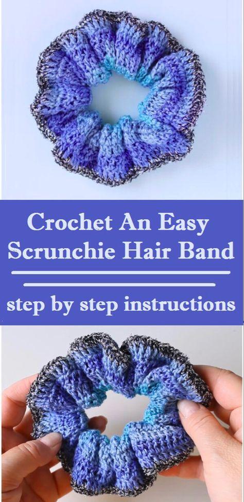 Crochet an Easy Scrunchie Hair Band