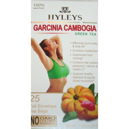 Hyleys Slim Tea Garcinia Cambogia Green Tea 100 Natural 25 Tea