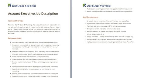 Project Manager Job Description  A Template To Quickly Document