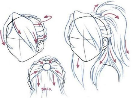 25 Trendy Drawing Reference Hair Ponytail Ponytail Drawing Short Hair Drawing Anime Hair