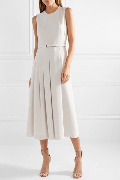 d05c9a844 Max Mara | Belted stretch-cady midi dress | NET-A-PORTER.COM ...