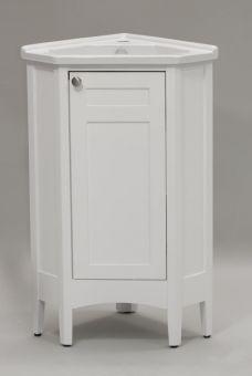 White Wooden Small Corner Cabinet For Bathroom With Black Ceramic Glamorous Small Bathroom Corner Vanity Inspiration Design