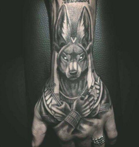 Anubis Tattoo Pin To Pin Egyptian Tattoo Sleeve Hand Tattoos For Guys Best Sleeve Tattoos
