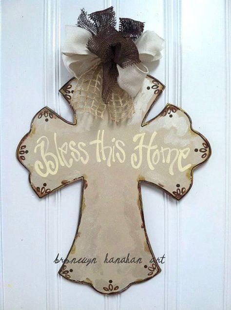 Vintage Inspired Cross Door Hanger