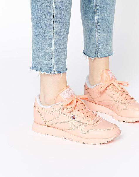 Image 1 - Reebok CL Coral Leather Trainers