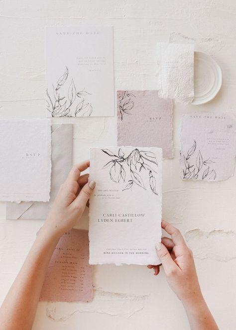 minimal and fine art wedding invitation by carli anna. #kinfolkwedding #weddinginvitation