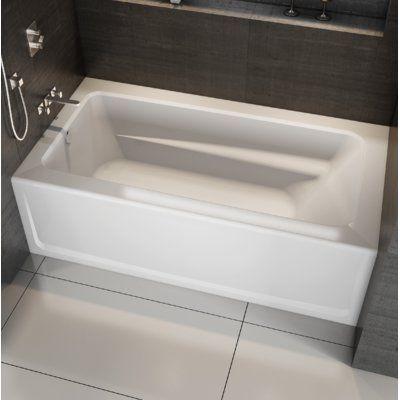 Jacuzzi Signature 72 X 36 Alcove Soaking Bathtub With Armrest