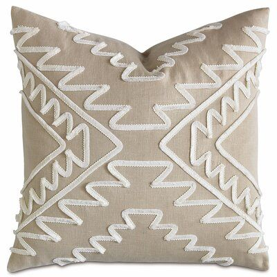 Eastern Accents Baclay Butera 100 Linen Down Geometric Square 22 Throw Pillow Cover Insert Throw Pillows Linen Throw Pillow Silk Throw Pillows
