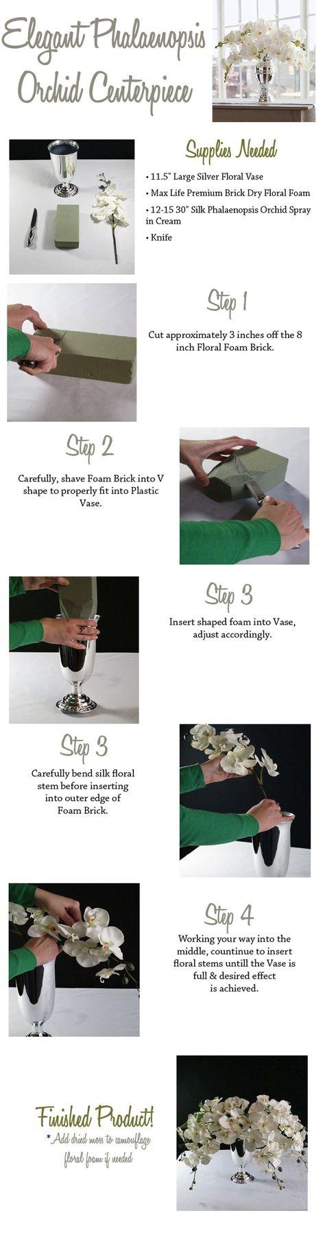 #diy wedding wedding flowers make your own phalaenopsis orchid centerpiece shop wedding flowers and wedding decorations www.afloral.com