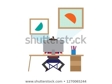 Modern Flat Graphic Illustration Of Modern Office Working Space