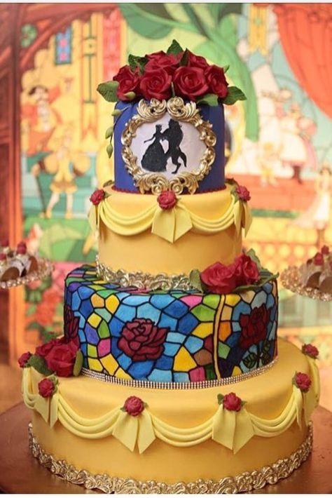 Are you having a Beauty and the Beast themed quinceanera or wedding? We have some amazing Beauty and the Beast cake inspiration for you! Check out more on our site. **Credit: IG- ** Beauty and the Beast Quinceañera Inspiration Beauty And The Beast Wedding Cake, Beauty And Beast Birthday, Beauty And The Beast Theme, Beautiful Wedding Cakes, Beautiful Cakes, Amazing Cakes, Wedding Beauty, Beauty Beast, Beauty And The Beast Cake Birthdays