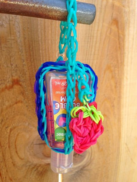 Lego Filled Hand Sanitizer Bottle A Colorful Rubber Hair Band On