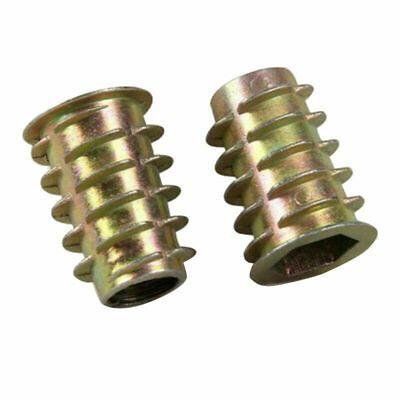 Ad Ebay Url Screw Insert Nuts Set Wood Hex Threaded Assortment Repair Tools Durable In 2020 Wood Insert Zinc Plating Stainless Steel Rod