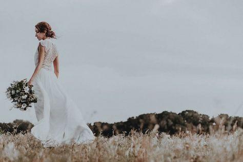 lauren + john | Ortensia Gown by Catherine Deane for @BHLDN | #BHLDNbride
