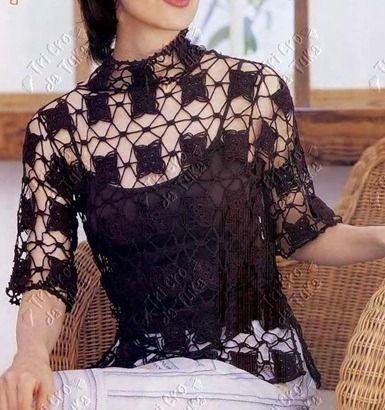 what a lovely lacy top! With diagrams and Japanese pattern! ,<3<3<3