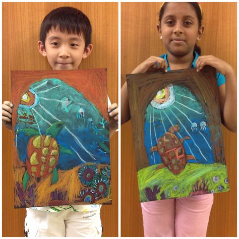 Under the sea oil pastel lesson Good for teaching EMPHASIS (focal point)
