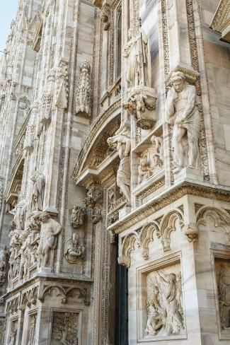 Photographic Print: Detail of the Duomo (Cathedral), Milan, Lombardy, Italy, Europe by Yadid Levy : Baroque Architecture, Beautiful Architecture, Architecture Design, Renaissance Architecture, Classical Architecture, Sustainable Architecture, Landscape Architecture, Tour Eiffel, White Aesthetic