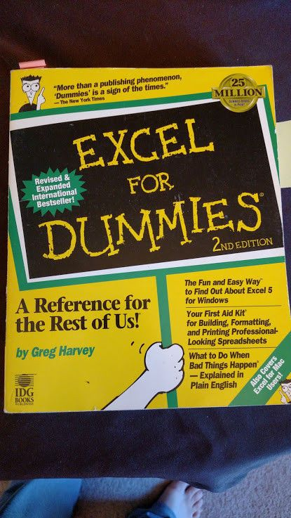 Excel for Dummies Paperback from IDG Books | My Ebay Store