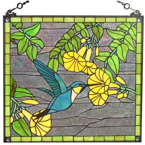 Stained Glass Birds Hummingbirds