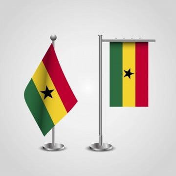 Ghana Country Flag On Pole Country Clipart Flag Icons Country Icons Png And Vector With Transparent Background For Free Download Flag Icon Background Banner Flag Vector