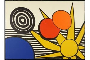 Artwork By Alexander Calder Sun And Planets Made Of Color