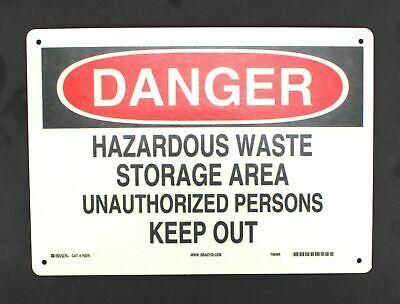 Sponsored Ebay Brady Danger Sign Hazardous Waste Storage Keep Out 10 X 14 Fiberglass 70375 Hazardous Waste Danger Sign Dangerous