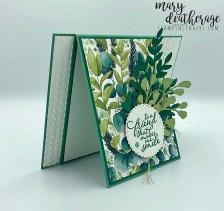 Stampin Up Forever Fern Sneak Peek With Video Tutorial Stamps N Lingers Flower Cards Fun Fold Cards Stamping Up Cards