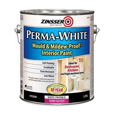 Zinsser Primer Z027 Perma White Mold Mildew Proof Interior Paint Interior Paint Zinsser Primer Mold And Mildew