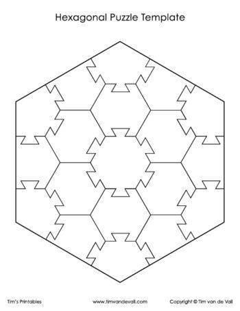 Hexagon Puzzle Template 2 Puzzle Art