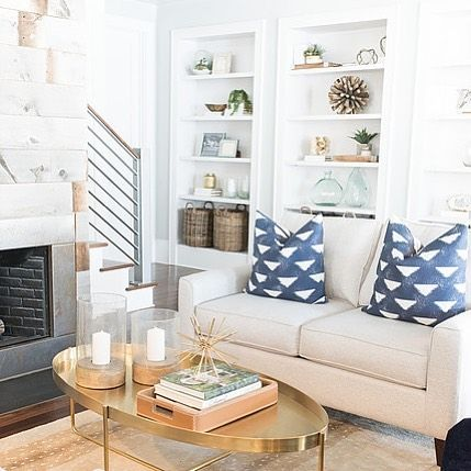 Gold Accent Pieces Can Make A World Of A Difference What S Not To Love About This Cozy Living Ro Living Room Designs Living Room Update Family Living Rooms